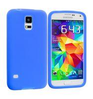 Husa de protectie silicon GO COOL pentru Galaxy S5, Blue