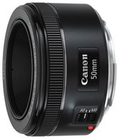 CANON Prime LensEF 50mm, f-1.8 STM, черный
