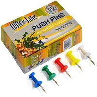 Кнопки-гвоздики OfficeLine, 50 шт., цветные