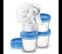 Ручной молокоотсос Philips Avent с контейнерами
