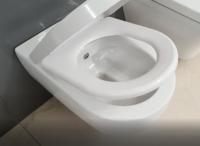 Viceu suspendat + bideu 2 in 1 V Tondo WC rimless cu capac soft close