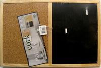 Панно пробковое + Доска с мелом 90 x 60 cm