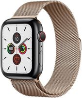 Apple Watch 5 40mm Gold Stainless Case Gold Milanese Loop Band LTE