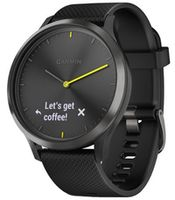 Фитнес-трекер Garmin vivomove HR Sport Black with Black Silicone Band (Large)