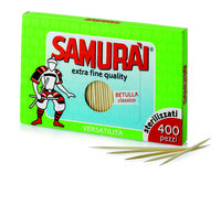 Зубочистки стерилизованные Samurai в картонной упаковке (запаска) 400шт