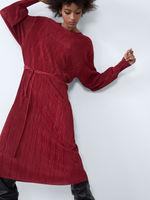 Платье ZARA Темно красный 5643/818/600