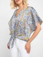 Блуза ORSAY Синий с принтом