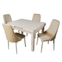 Комплект раздвижных столов DT A30 слоновая кость + 4 сиденья DC A13 слоновая кость