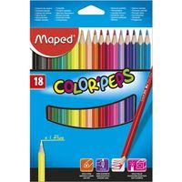 MAPED Карандаши цветные MAPED Star, 18 цветов