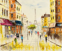 Oil Paintings Eiffel Alley (CIT15000994)