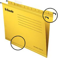 Esselte Папка навесная ESSELTE A4 с индикатором, желтый