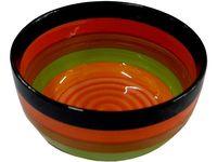 Salatiera 20cm dungi multicolore, din ceramica