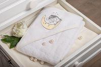"""Dormi Baby Полотенце с капюшоном """"Kот"""" белое"""