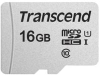 Сard de memorie Transcend MicroSD 16Gb Class 10 UHS-I (TS16GUSD300S)
