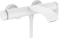 Vivenis Baterie monocomandă pentru baie, montare pe perete, alb mat