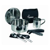 Набор посуды нерж Laken SS Cooking Set17 cm, neoprene cover, cup, 8817FN