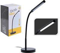 Светильник настольный LED, H43 см, металл, черный