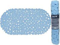 Коврик для ванны 39X99cm овал MSV Galets, голубой, PVC