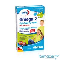 Omega 3 Kids 312mg+Vit.D+E caps.masticab. N30(4+, 2/zi) EuRho Vital