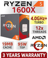 AMD Ryzen 5 1600X (6C/12T), Socket AM4, 3.6-4.0GHz, 16MB L3, 14nm 95W, BOX (without cooler)
