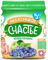 """""""Маленькое счастье"""" Пюре Яблоко-Голубика 90 gr. (5m+)"""