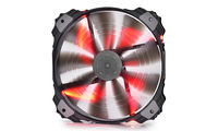 "200mm Case Fan - DEEPCOOL ""XFAN 200"" Fan with Red LED, 200x200x32mm, 700rpm, <26.3dBa, 86.57CFM, sleeve bearing, rubber de-vibration design, Big 4Pin and 3Pin Molex"