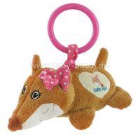 """Baby Mix STK-17755P Плюшевая игрушка с вибрацией """"Лиса"""" розовый"""