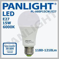 Светодиодная лампа A60P 15W (6000K) PL-A60P15CW/E27