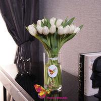 cumpără Vase cu 25 lalele albi în Chișinău
