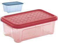 Коробка Combi с крышкой Arianna 2.5l,26.2X17XH9.6cm(син,крас