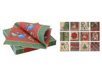 Салфетки рождественские бумажные 20шт, 33X33сm