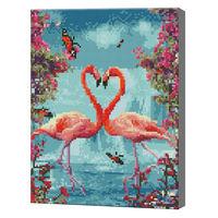 Пара фламинго, 30x40 см, алмазная мозаика QS200973
