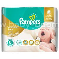 Pampers Premium Care New Baby 0+ (1-2.5 кг.) 30 шт.