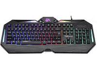 Tastatură pentru jocuri Qumo Spirit, 12 taste Fn, 19-KRO, suport pentru încheietura mâinii, iluminare din spate, negru, USB