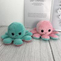 Octopus Plush I зеленый - розовый