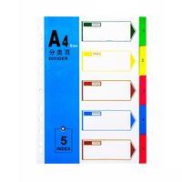 Separator carton A4 5 cifre+culori