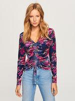 Bluza RESERVED Mov cu imprimeu floral up983-59x