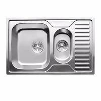 купить Мойка кухонная нержавеющая 0,8мм (satin)полуторная78/50 см лев 7850L в Кишинёве