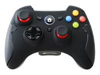 Gamepad wireless Canyon GPW6, 4 axe, D-Pad, 2 mini joystick-uri, 15 butoane, 2xAA, vibrație dublă