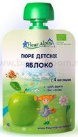 Fleur Alpine Пюре яблочное 90 gr. (4+)