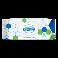 Влажные антибактериальные салфетки SuperFresh, 72 шт.