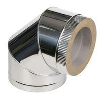 Угол дымоходный 90° утепленный (inox 304-0.5mm)