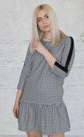 купить Платье клетка черно –белая в Кишинёве