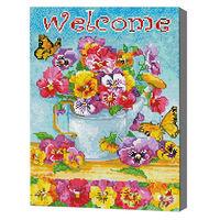 Добро пожаловать, 40x50 см, алмазная мозаика Артукул: QA204375