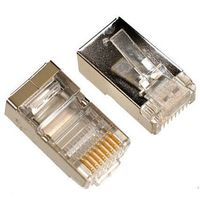 Shielded Modular Plug, RJ-45 Cat.6 Gold Plated 100pcs/bag