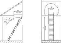 Лестница Standard Metal 13090005.2 (60x110)