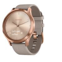 Vivomove Hr Rose-Gold With Grey Suede Band Includes Silicone Band