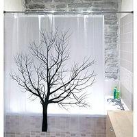"""Шторка для ванной Tatkraft """"TREE"""" 180 см х 180 см 17351"""