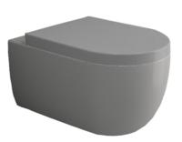 Vas veceu suspendat V Tondo WC Grey Mat cu capac soft close