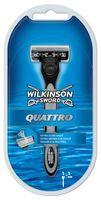 Бритва для мужчин Quattro, 4 шт, 1 сменные лезвия